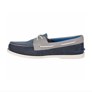 Sperry Authentic Original Plush Washable Boat Shoe - Navy/Grey