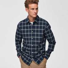 Load image into Gallery viewer, Selected Homme Checked Shirt (Slim Fit) - Blue