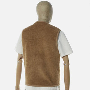 Universal Works Lancaster Gilet Mountain Fleece - Sand