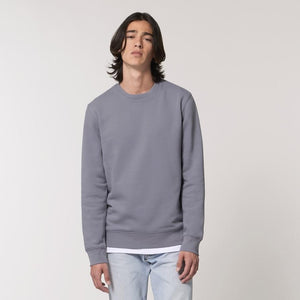 Born Essentials Organic Cotton Crew Sweat - Lava Grey
