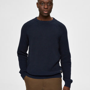 Selected Homme Crewneck Knit - Captain Sky