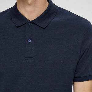 Selected Homme S/S Polo - Navy