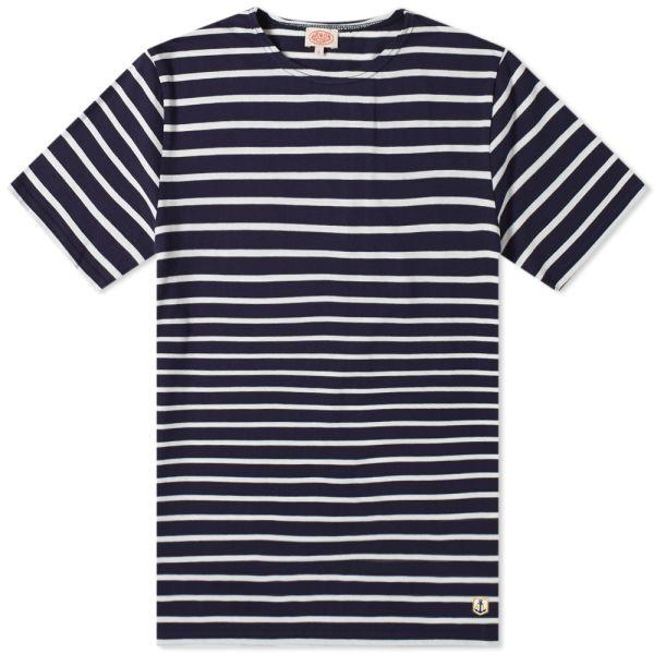 Armor Lux Big Sailor Tee Shirt - Navy/Natural