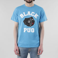 Load image into Gallery viewer, Black Pug Old Head Logo - Heather Blue