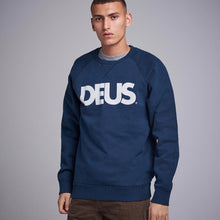 Load image into Gallery viewer, Deus Ex Machina All Caps Crew Sweat - Navy