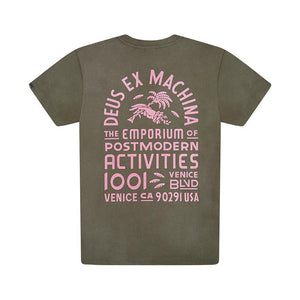 Deus Ex Machina Post Modern Tee Shirt - Beluga Rose