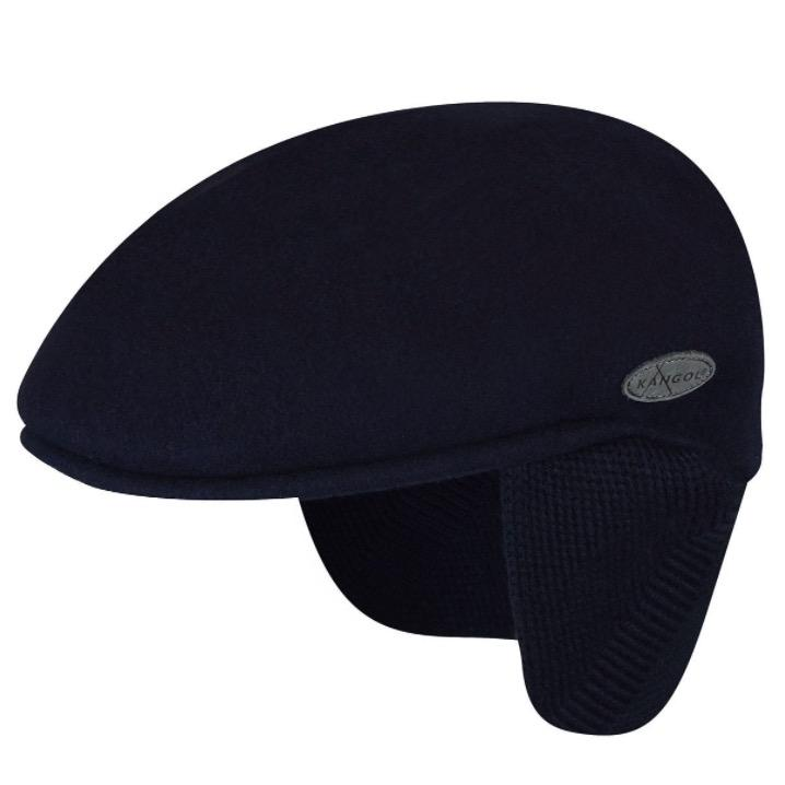 Kangol Wool 504 Earlap Cap - Black