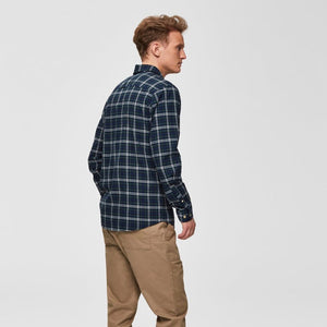 Selected Homme Checked Shirt (Slim Fit) - Blue