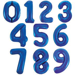Giant Number Balloons – Blue