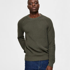 Selected Homme Crewneck Knit - Forest Green