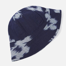 Load image into Gallery viewer, Universal Works Naval Hat - Ikat Flower Indigo