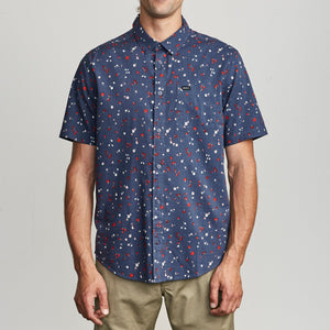 RVCA Calico Button-Up Shirt - Moody Blue