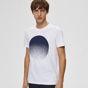 Selected Homme Philip Tee - White
