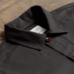 USKEES Button Work Shirt - Black