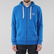 Load image into Gallery viewer, Black Pug Basic Zip Hoodie - Royal Blue