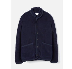 Universal Works Lancaster Jacket Mountain Fleece - Navy