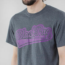 Load image into Gallery viewer, Black Pug Baseball Logo - Grey Heather/Purple