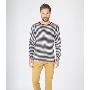 Armor Lux Breton Striped Heritage L/S Tee Shirt - Navy/Natural