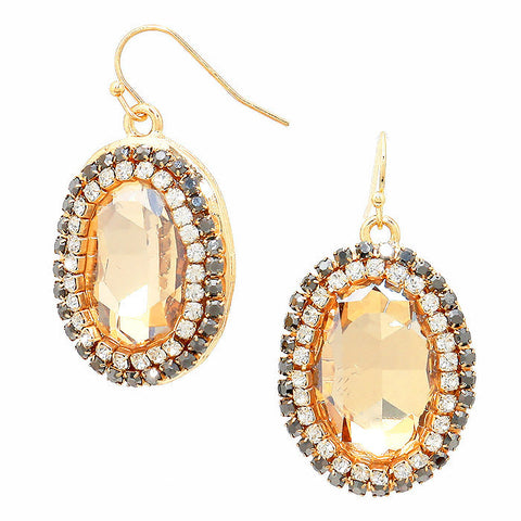 Amber Luxe Drop Earrings