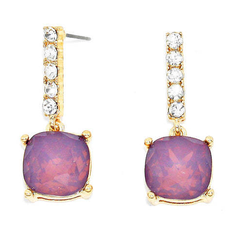 Amethyst Opal Drop Earrings