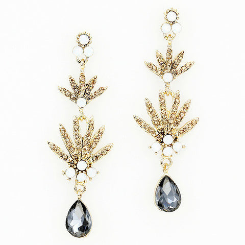 Glittering Gatsby Drop Earrings