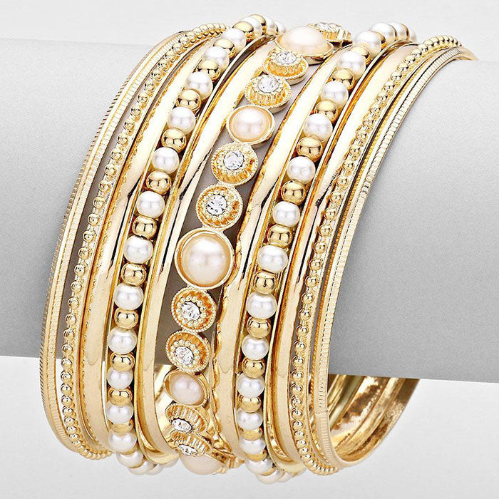 Positano Pearl Bangle Set