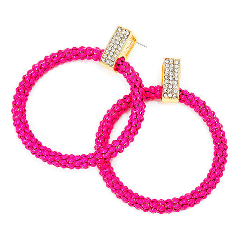 Pretty in Pink Hoop Earrings
