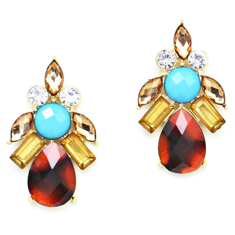Twinkling Tortoise Shell Earrings