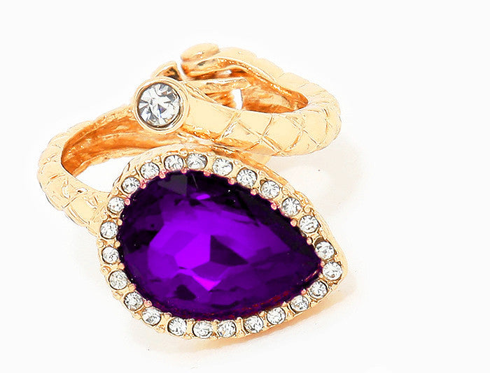 Crystal Amethyst Ring