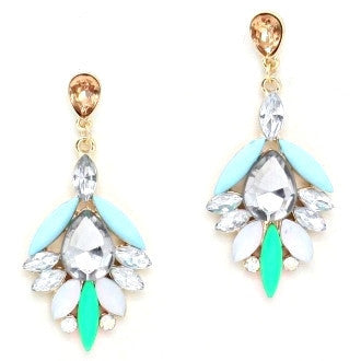 Crystal Bleu Drop Earrings