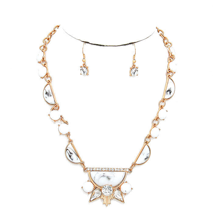 Marbella Marble Link Necklace Set