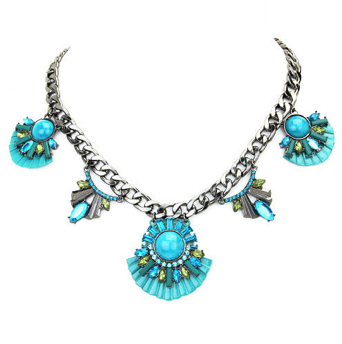 Très Chic Collar - Turquoise