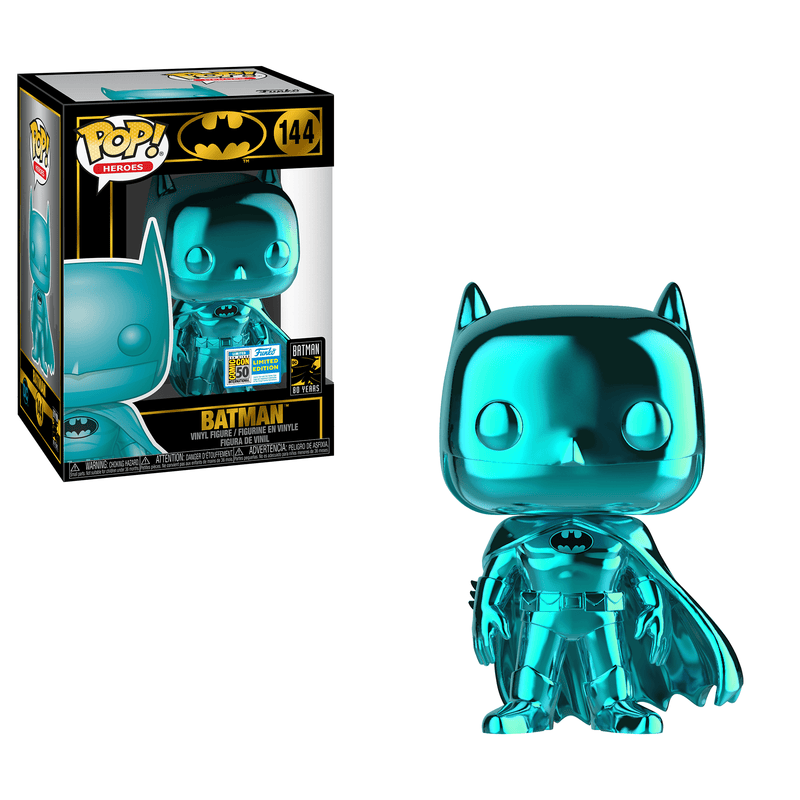 Batman- Teal Chrome Summer Convention Pop! (Exclusive) - The Anime And Pop Culture Studio