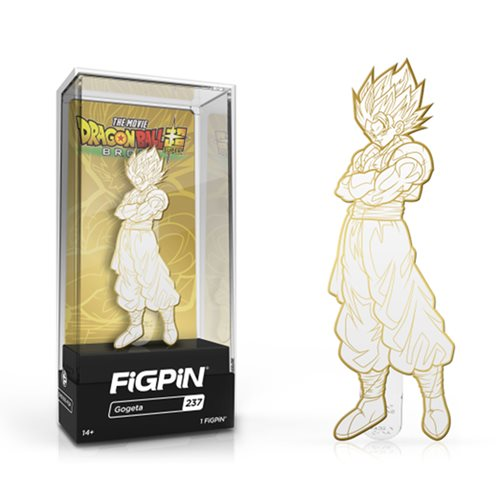DB Super: Broly Gogeta White Gold FiGPiN - The Anime And Pop Culture Studio