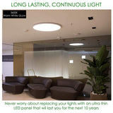 "24"" ROUND PANEL LED Light Volts:100-277V Watts:40W  CCT:3000K  B.A:110°  Avg.Life (hrs):50000  CRI:80  PF:0.9"