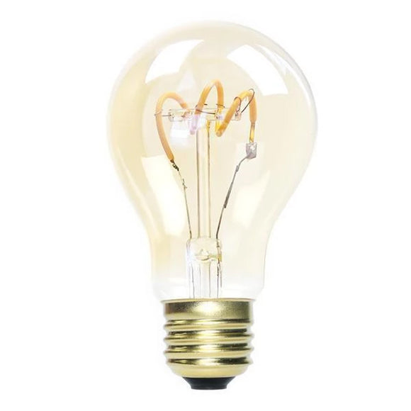 A19 Dimmable Vintage Spiral LED Filament Lights Bulb Amber Glass LED, 25W Equivalent,Warm White 2200K, E26 Base 210 Lumans