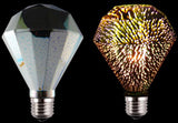 LED E26/E27 4W 110V DIAMOND Shaped 3D Bulb 2200K FILAMENT