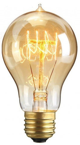 4W A19 Spiral Filament LED Light Bulb - Dimmable - 10W Equivalent - 210 Lumens