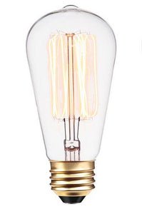 ST64 HAIRPIN STYLE CLEAR Incandescent Filament Light Bulb 2200K D:64MM L:146MM
