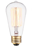 ST58 E26/E27 25-60W HAIRPIN STYLE CLEAR Incandescent Filament Light Bulb 2200K  CLEAR D:58MM L:131MM