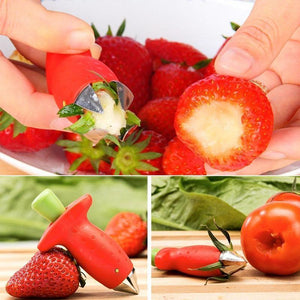 Best Strawberry Huller Tongs,Corer, Stem Remover, Pitter, Peeler, Scooper, Destemmer Tool,Core Remover