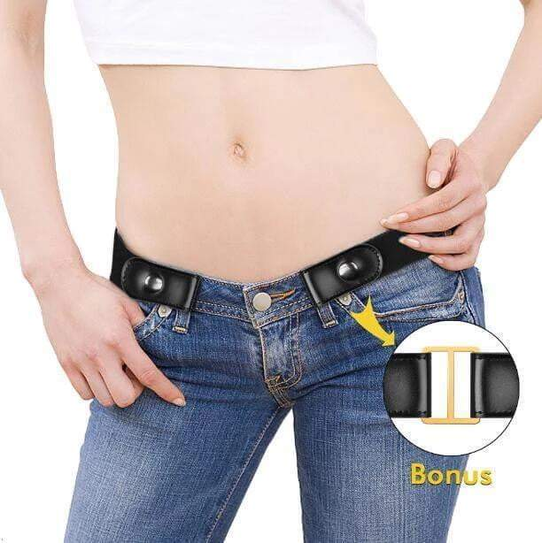 Buckle Free Belt for Men/Women, No Buckle Elastic Stretch Belt for Jeans Pants