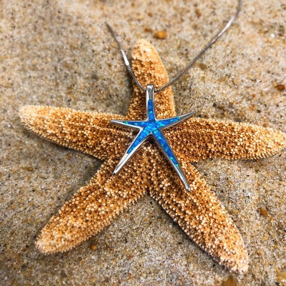 Australian Opal Starfish Necklace