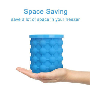 Magic Silicone Ice Cube Maker Genie, As Seen On TV,  With Bet Reviews, Space Saving