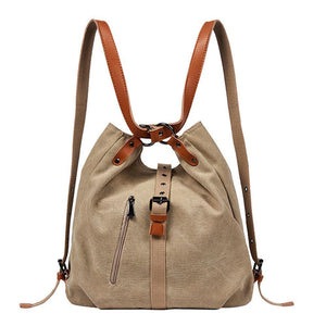 TTF 3 In 1 Vintage Extra Large Canvas Tote Backpack Shoulder Bag
