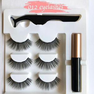 Next-Level Magnetic Eyelashes and Eyeliner Set - 3 Pairs/ Set