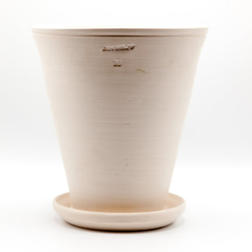 Ben Wolff White Footed Herb Pot with Saucer