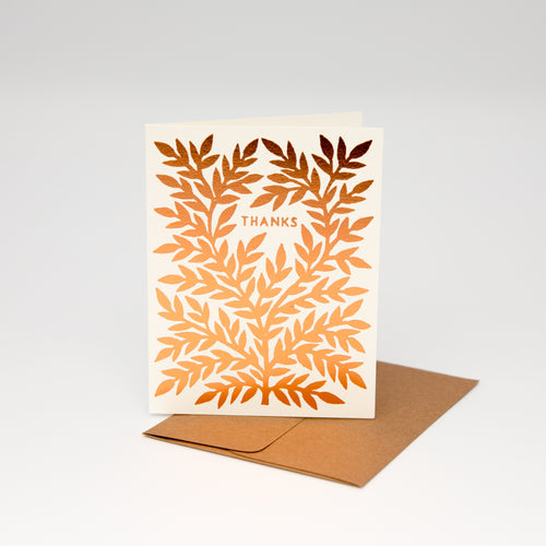 Foil Stamped Thank You Card