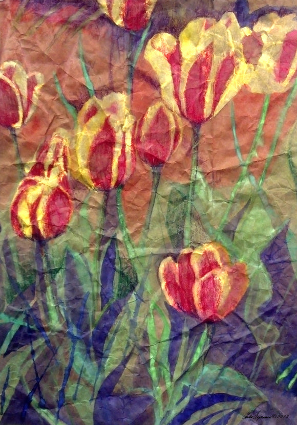 Determined Tulips Mixed Media