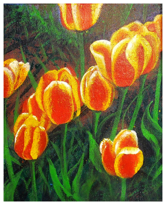 Determined Tulips Acrylic